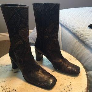 Via Spiga Snakeskin Boots